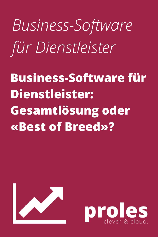 Business-Software für Dienstleister: Gesamtlösung oder «Best of Breed»?