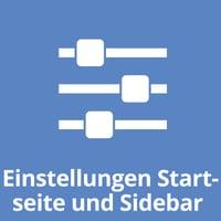 Einstellungen Startseite und Sidebar