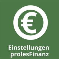 Einstellungen prolesFinanz