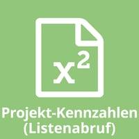 Projekt-Kennzahlen (Listenabruf)