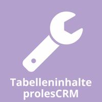Tabelleninhalte prolesCRM