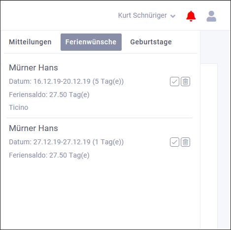 proles - Release 4 - Notifikation Ferienwünsche