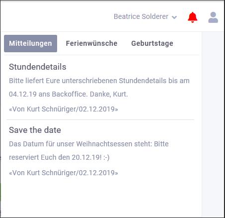 proles - Release 4 - Notifikation Mitteilungen