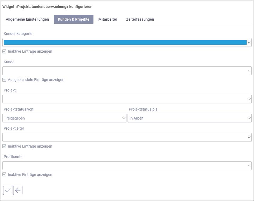 proles - Release 4 - Widget konfigurieren