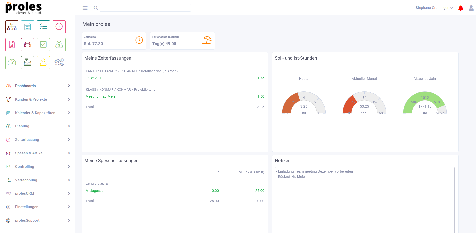 proles Dashboard Release 4