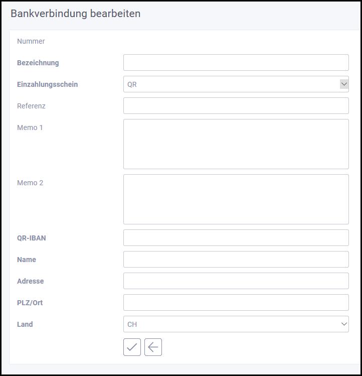 proles - Bankverbindung - Einzahlungsschein - QR