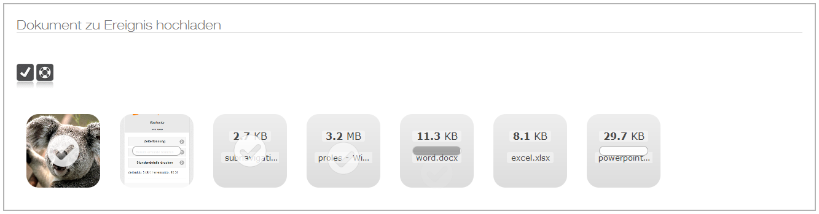 Dokumentenupload mit prolesCRM und prolesInfo (Release 2.5)