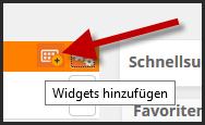 Widgets hinzufügen