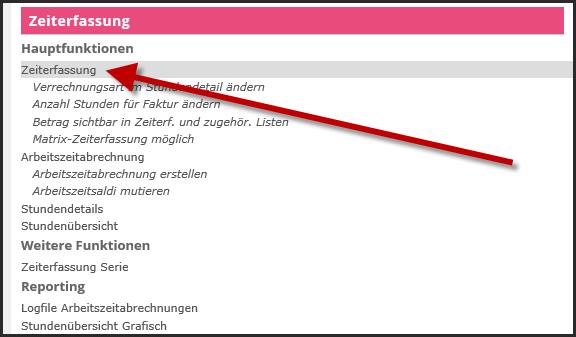 proles - Zeiterfassung - Einrichtungsarbeiten - Allgemeine Funktionsberechtigung - Übersicht