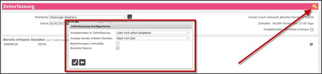 proles - Zeiterfassung - Einrichtungsarbeiten - Zeiterfassung konfigurieren - Übersicht