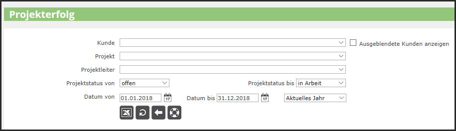 proles - Projekterfolg - Listenabruf
