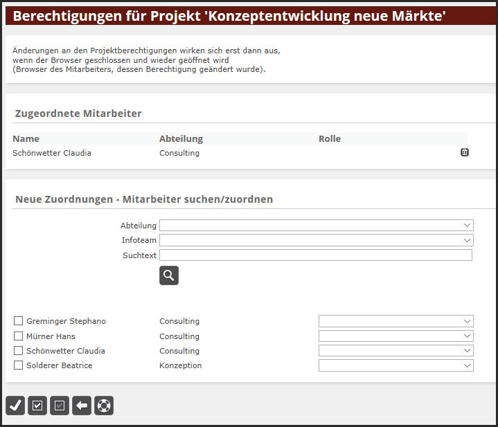 proles - Projektverwaltung - Projekt - Projektberechtigungen