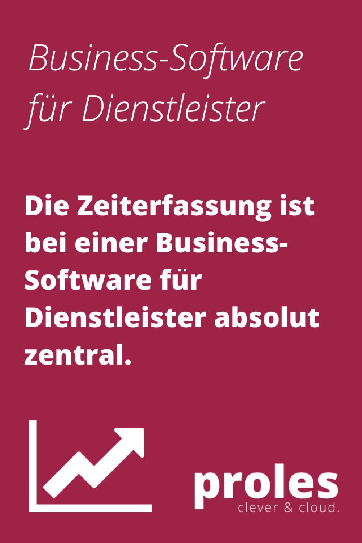 Die Zeiterfassung ist bei einer Business-Software für Dienstleister absolut zentral