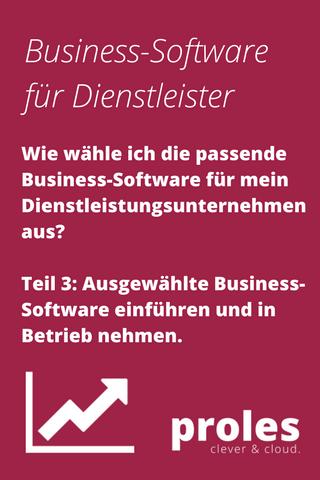 Wie wähle ich die passende Business-Software für mein Dienstleistungs-Unternehmen aus? Teil 3: Ausgewählte Business-Software einführen und in Betrieb nehmen