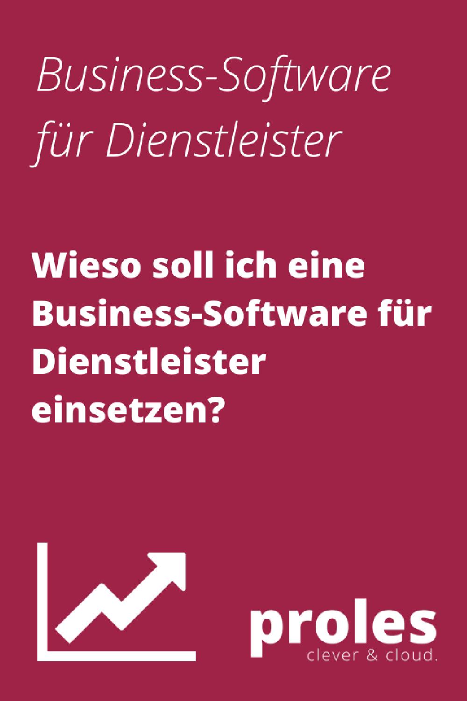 Wieso soll ich eine Business-Software für Dienstleister einsetzen?