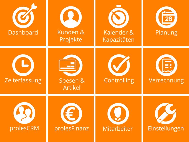 Welche Funktionen bietet die Projektmanagement-Software proles?