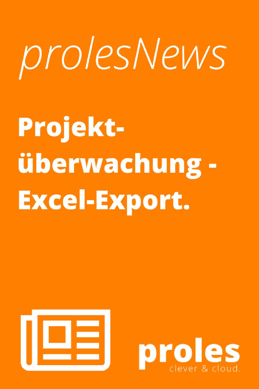 prolesNews: Projektüberwachung - Excel-Export